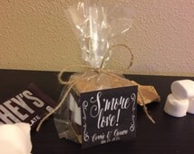 S'more Wedding Favor with Bag, Twine and Sticker Label - Personalized Favor Gift Kit (Item Number WFSK0110001)