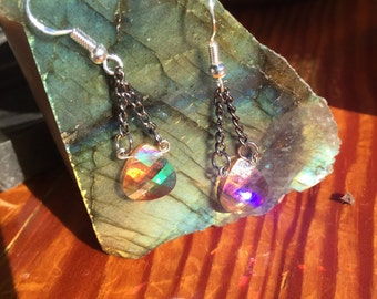 Champagne Swarovski Crystal earrings