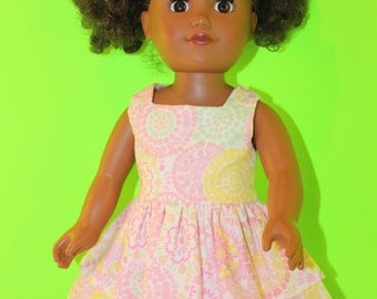 18 Inch Doll Clothes Pink Summer Dress