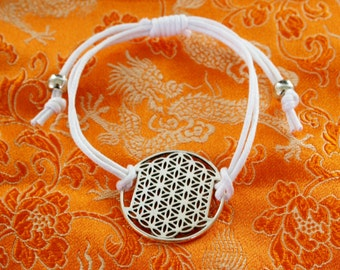 Flower of life with white strap