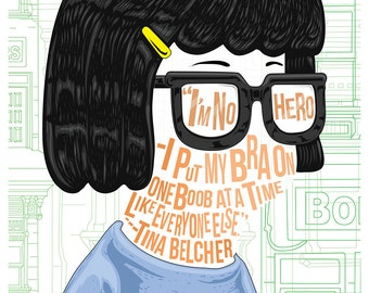 Famous Hair/ Lines: Tina Belcher