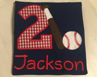Boys Baseball Shirt // Baseball Birthday Shirt // Embroidered Baseball Shirt for Boys // 1st First 2nd Second 3rd Third 4th Fourth Birthday