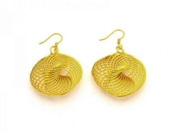 Earrings golden vintage style