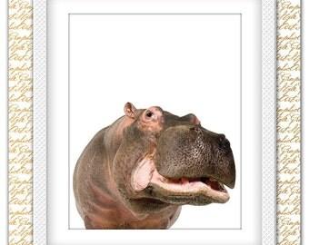 Hippopotamus print, Hippopotamus art, Hippopotamus decor, Hippopotamus poster, Hippopotamus photo, Animal print, Hippo Print, Hippo wall art
