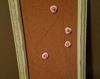 Framed bulletin board / cork bulletin board