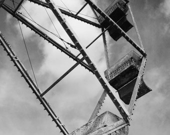 Carnival Ferris Wheel B/W