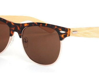 club masters sunglasses 87nl  Wooden Sunglasses wood sunglasses with leopard frame, retro clubmasters,  women sunglasses, mens sunglasses