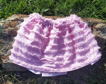 Pink Skirt with Tulle Underlay