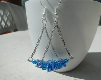 pretty pair of earrings blue pool! ideal for this summer!