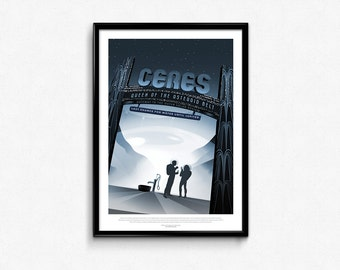 Vintage Space Travel Ceres Art Print