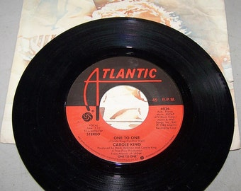 "1970's Hit 45 rpm Record ""One To One"" By Carole King"