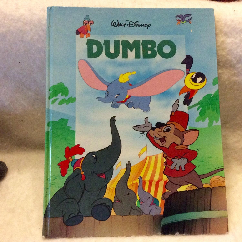 Dumbo Walt Disney Large Childrens Book Near Mint 1988 Hong