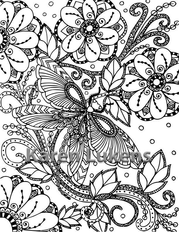 butterfly garden kit coloring pages - photo#2