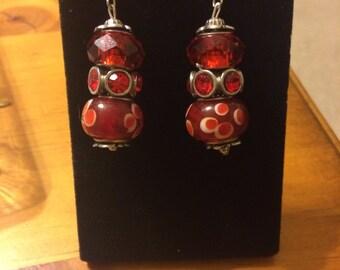 Ravishingly red dangle earrings