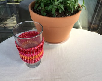 Beverage Cozy (orange/red)