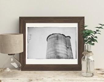 tree stump old barn silo farm rustic color landscape. Black Bedroom Furniture Sets. Home Design Ideas