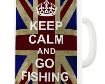 Go Fishing Keep Calm And Carry On Ceramic Mug