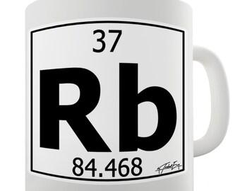 Periodic Table Of Elements Rb Rubidium Ceramic Tea Mug