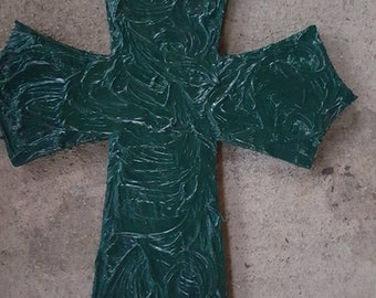 textured wall hanging cross