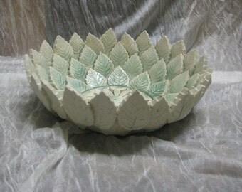 Handmade leaf bowl