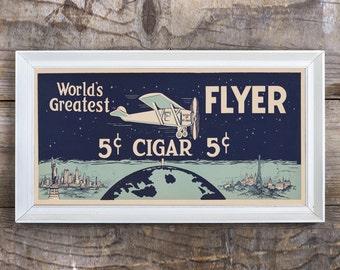 Vintage Cigar Poster, Vintage Poster, Worlds Greatest Flyer