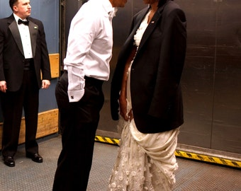 President Barack Obama & First Lady Michelle Share a Private Moment - 5X7, 8X10 or 11X14 Photo (EE-101)