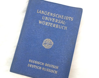 1960 Deutsch/Russion pocket dictionary.