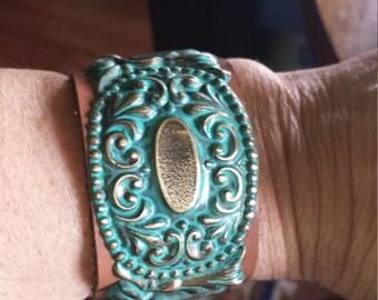 Antique drawer pull bracelet.        *free U.S. shipping*