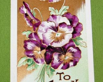 Circa 1910 To Greet You Greeting Card, Postcard, Vintage #187ctv