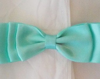 Beautiful Blue Bow tie 3 loops Hair bow