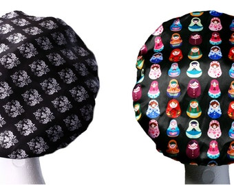 NEW XL Bouffant Luxury MICROFIBRE Lined Extra Large Shower Cap Waterproof Bath Hat Hair Accessory Adults / Teens