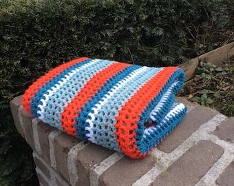 """Baby blanket in """"Fancy Retro Style"""""""