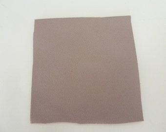 Pink beige leather, 6.5 cm, square end and smooth leather
