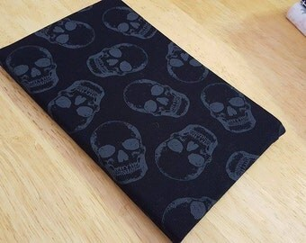 """Black with Skulls Fabric Covered Journal 5"""" x 8.25"""""""
