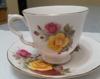 Queen Ann Bone China Cup and Saucer