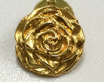 Vintage Rose pin, gold tone