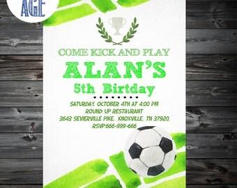 Soccer Birthday Invitation,Soccer Invitation,SOCCER Birthday party,Soccer Party,Printable Soccer Invitation,1st,2nd,3rd,4th Birtday