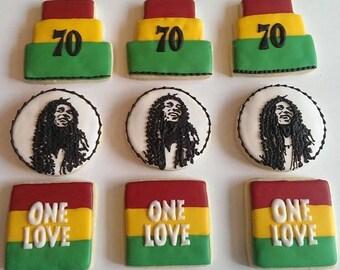 Bob Marley - Rasta - Reggae Cookies