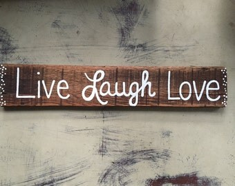 Live Laugh Love Sign, Wood Sign, Rustic Wall Decor, Wall Art, Wall Decor, Country Decor
