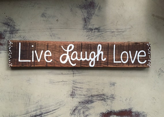 Items similar to live laugh love sign wood sign rustic for Love sign