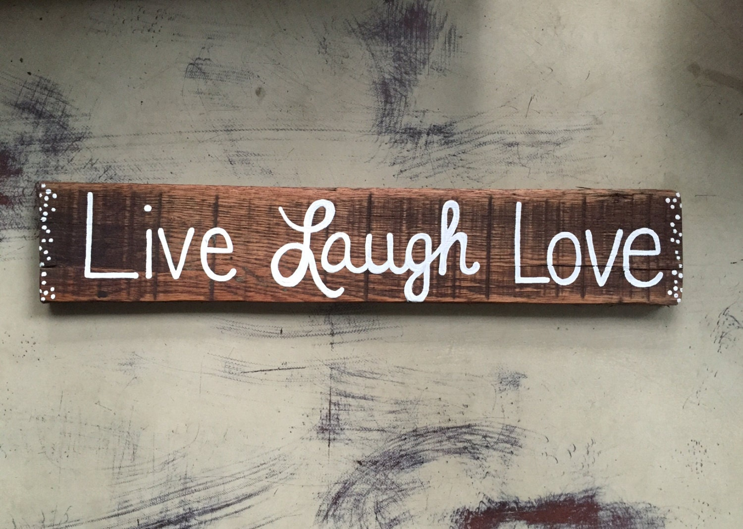 live laugh love sign wood sign rustic wall decor wall art. Black Bedroom Furniture Sets. Home Design Ideas