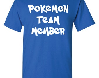 Pokemon Shirt Official Blue Team Member Mystic Youth Kids  Size Small - XL Available