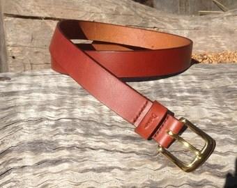"Leather Tan Dream belt  size 34"""