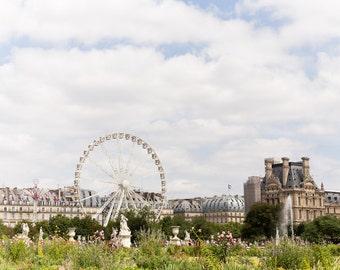 Paris Photography, Jardin des Tuileries, Musée du Louvre, Paris Print, Home Decor, Paris Decor, Place de la Concorde, Sunny day in Paris