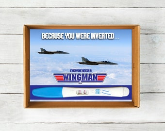Top Gun Baby Announcement, Instant Download, Wingman Preganancy Announcement