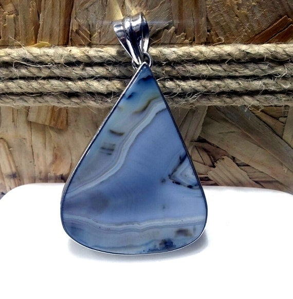 Silver Pendant, Handmade Design Pendant, Big stone Pendant, Natural Stone Pendant, Big Pendant, textured stone pendant, Wedding gifts