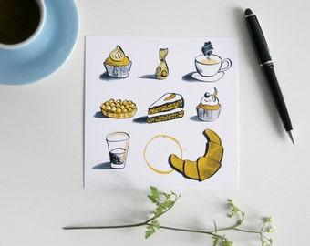 Postcard sweets