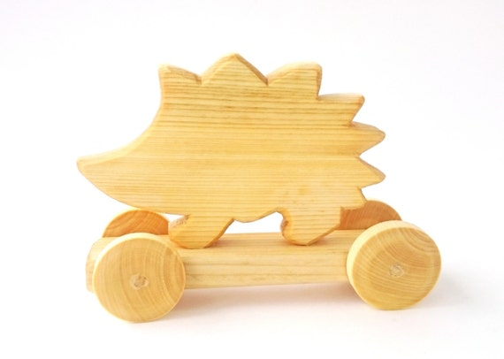 Wooden Toy Hedgehog Wood Wooden Toy for Babies by EcoForBaby
