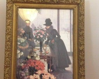 The Florist shop - Gilt Framed Print