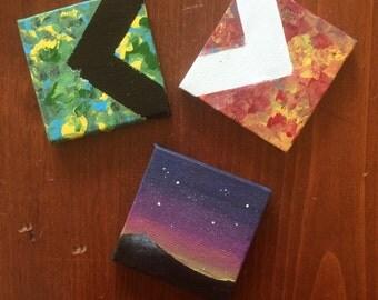 Custom Mini 2.5x2.5inch Canvases